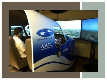 Figure 1. Flight simulator at NASA Glenn Research Center.